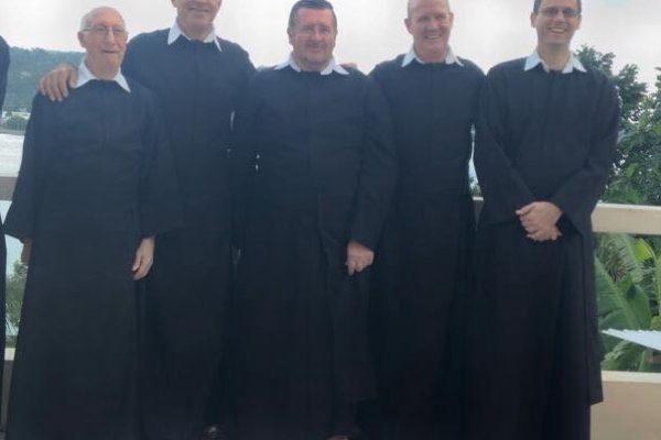 L-R: Fr. Joseph Burg, C.O. Samuel Alloggia, C.O. Roland Dessine, C.O., Michael Palud, C.O. Brad Smith C.O. From the Port Antonio Oratory
