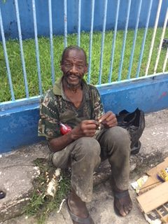 Another street person benefiting from the Help of the Oratorian Fathers